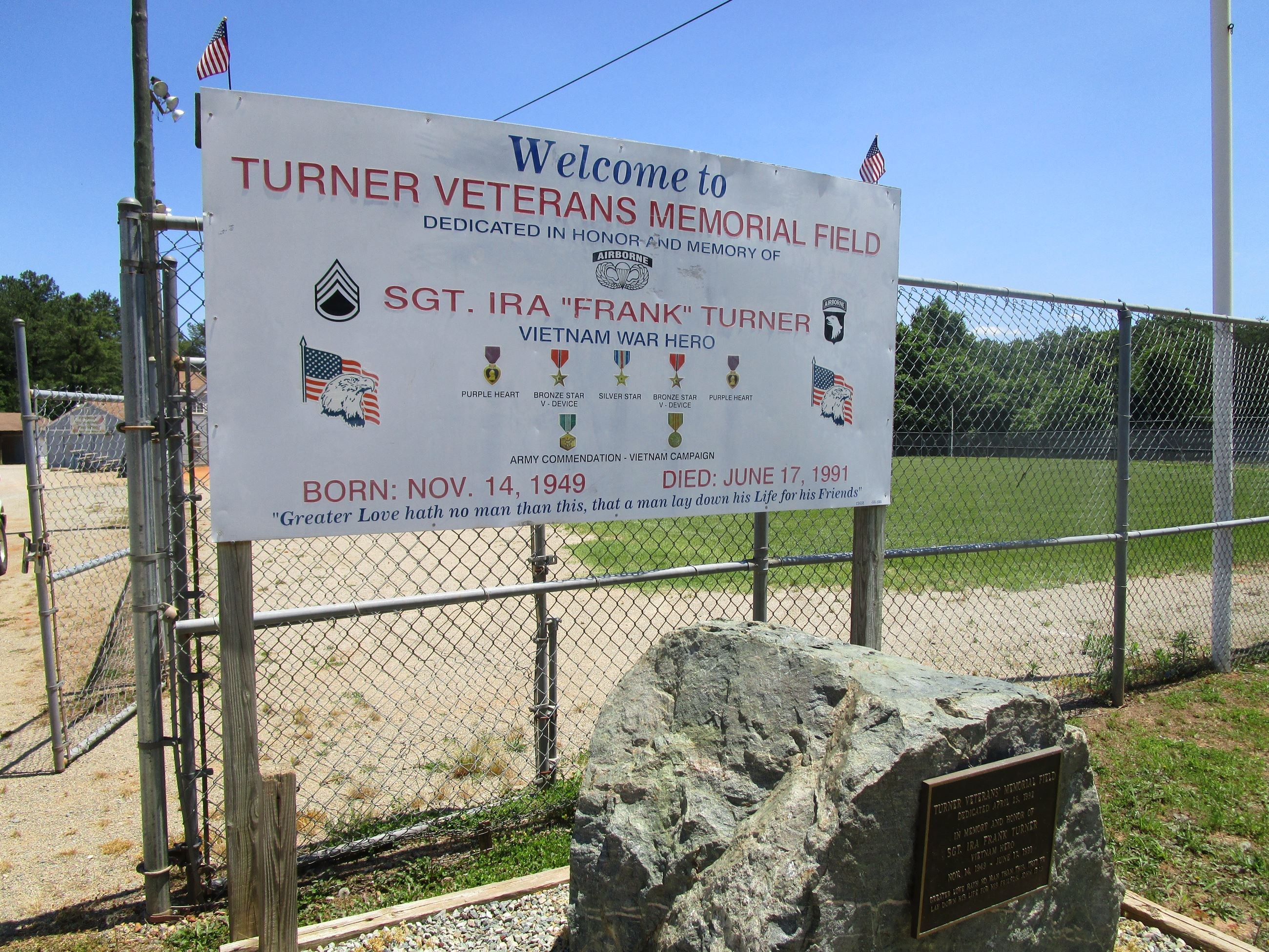 Turner Entrance Sign